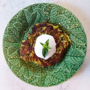 leafy vintage plates