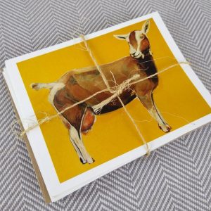 goat note cards set of 6