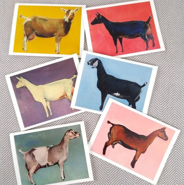 dailry goat note cards