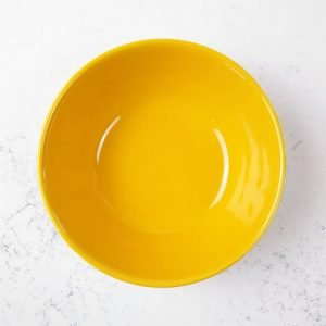 vintage bauer yellow soup or serving bowl