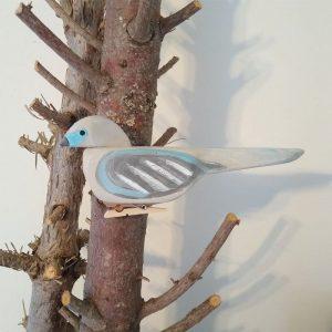 folk art wood dove