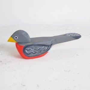 folk art wood robin